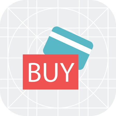 cashless: Icon of credit card and BUY sign