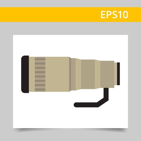 optical: Vector icon of removable optical camera lens Illustration