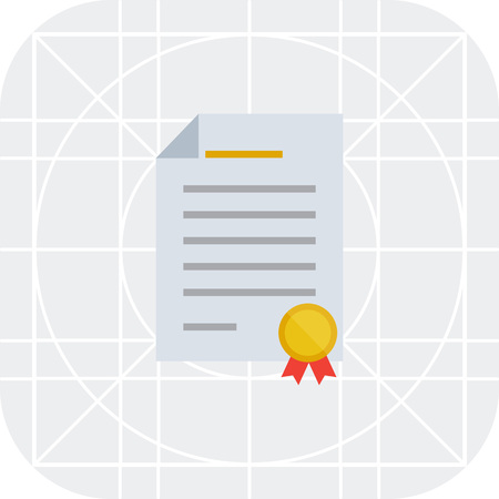 certifying: Certificate icon Illustration
