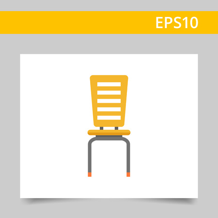 comfort classroom: Ion of yellow plastic chair