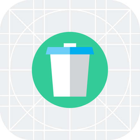 walking away: Disposable cup icon Illustration