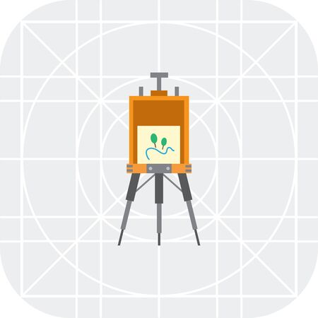 foldable: Vector icon of standing drawing easel with painting
