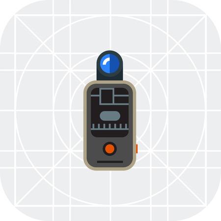 gatillo: Icono del vector del disparador de flash remoto de la cámara