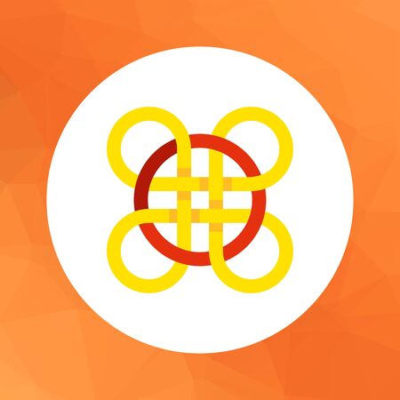 celtic: Multicolored vector icon of Celtic knot ornament