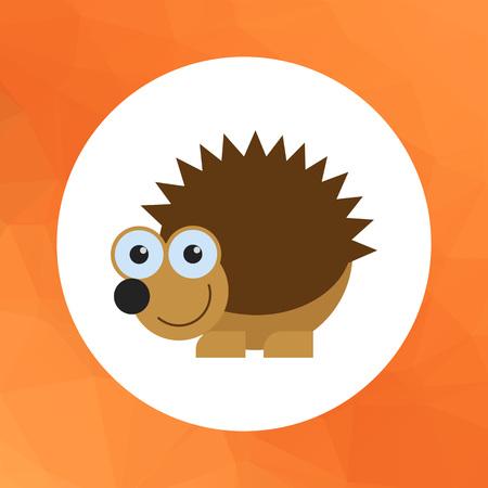 cartoon hedgehog: Vector icon of cute cartoon hedgehog