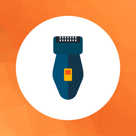 shaver: Multicolored vector icon of foil electric shaver