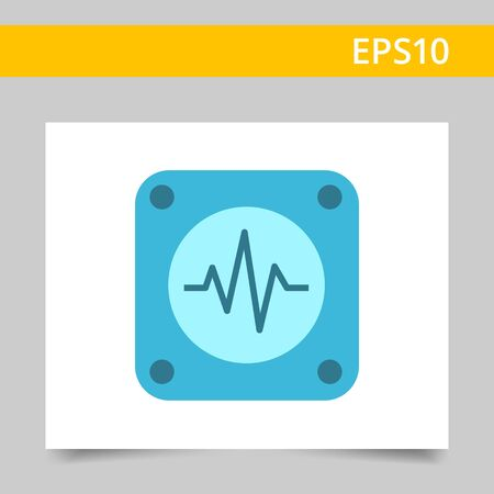 electrocardiogram: Icon of electrocardiogram