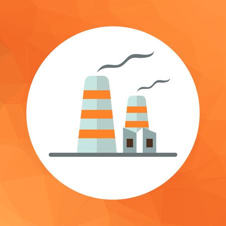 hazardous to the environment: Icon of factory building