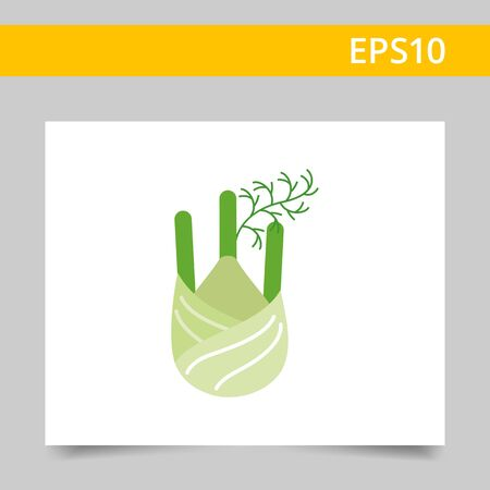 carbohydrate: Vector icon of fennel root with stem parts