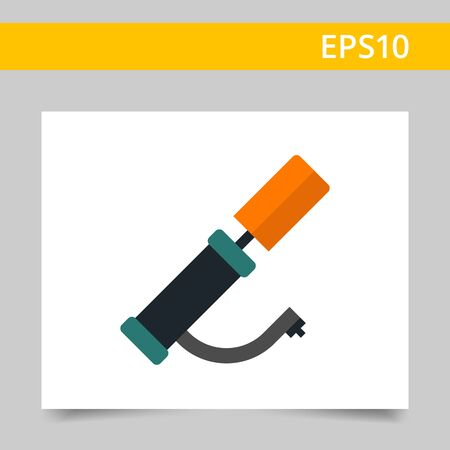 bicycle pump: Multicolored vector icon of hand air pump Illustration