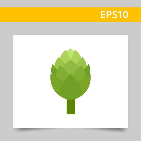 artichoke: Multicolored vector icon of fresh green artichoke