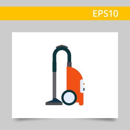 Multicolored vector icon of red vacuum cleaner Illustration