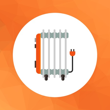 oil heater: Multicolored vector icon of oil electric heater Illustration