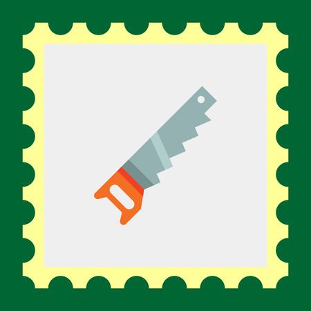 crosscut: Multicolored vector icon of hand saw