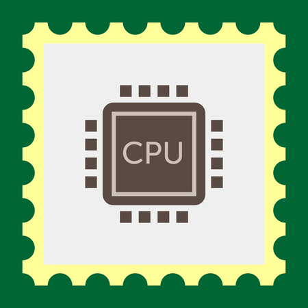 processing: Icon of central processing unit