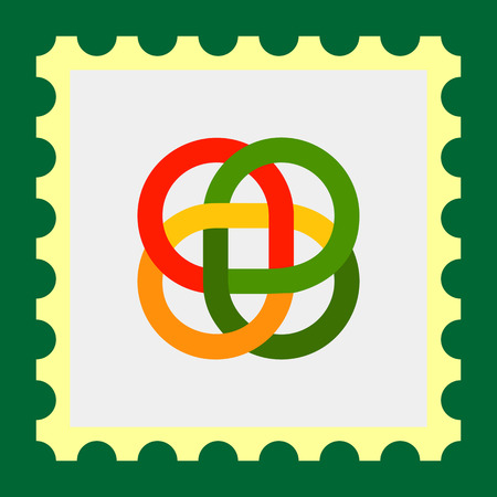 bucle: Multicolored vector icon of loop Celtic ornament Vectores