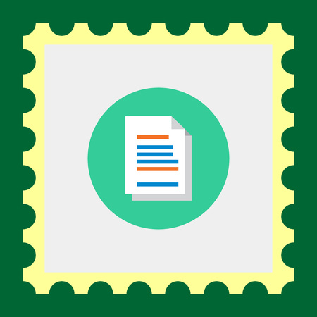 Icon of text document with folded corner
