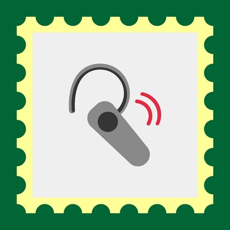 mobile headset: Icon of wireless mobile headset Illustration