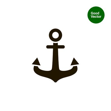 anchored: Anchor icon Illustration