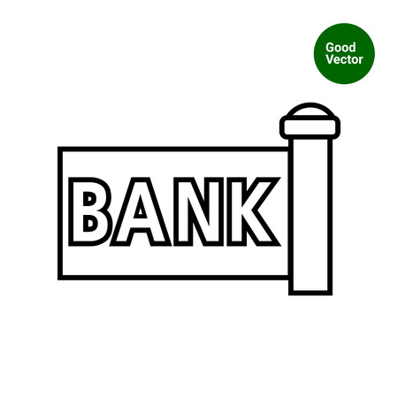 signboard: Bank signboard icon Illustration
