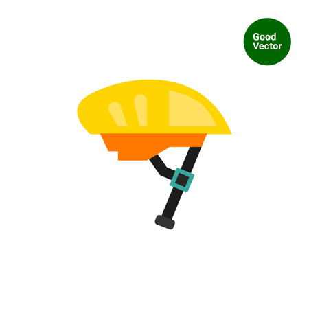 bicycle helmet: Multicolored vector icon of yellow bike helmet Illustration