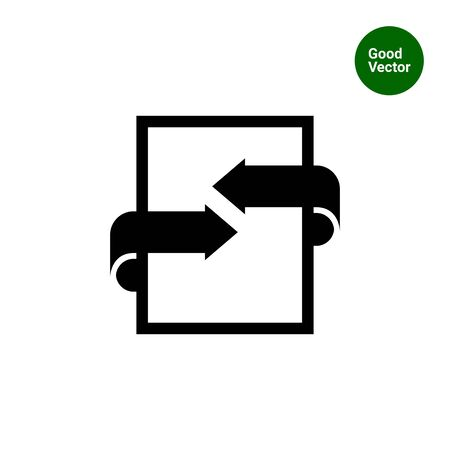bilateral: Icon of document with arrows