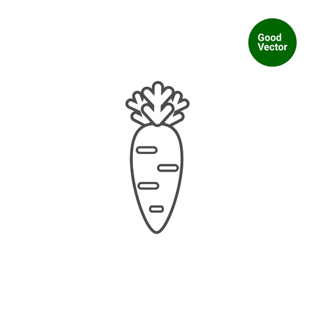 rational: Carrot icon Illustration