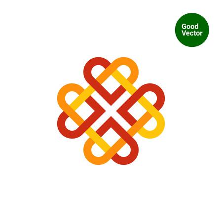 celtic: Multicolored vector icon of Celtic ornament Illustration
