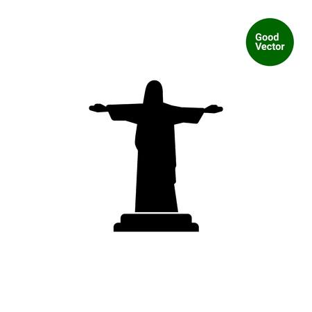 redeemer: Icon of Christ the Redeemer statue Illustration