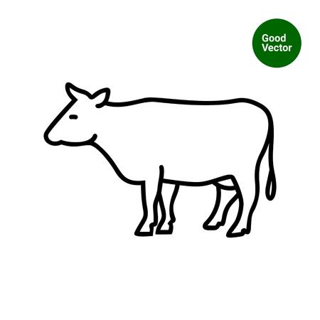 head profile: Cow icon