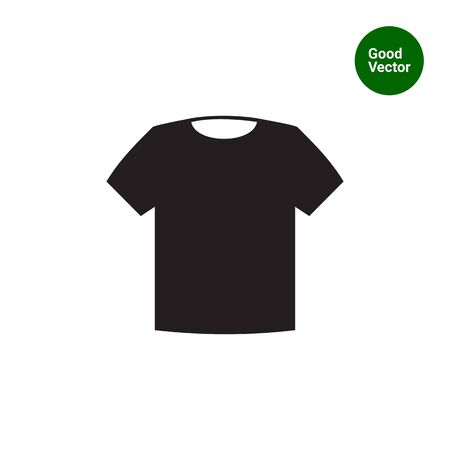 unisex: Vector icon of classic unisex t-shirt silhouette