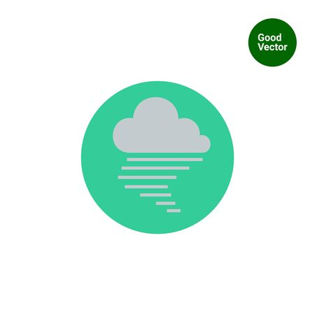 dull: Icon of cloud and fog sign
