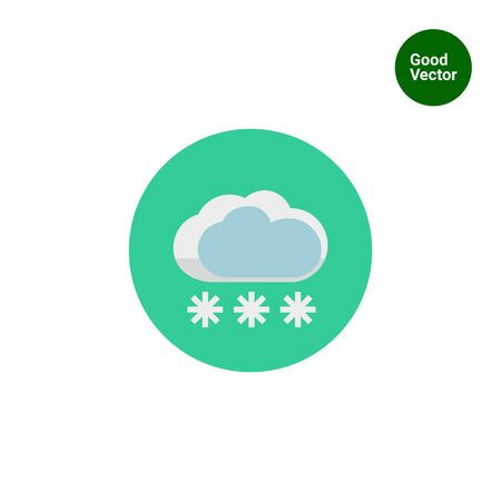 dull: Icon of cloud and snowflakes Illustration