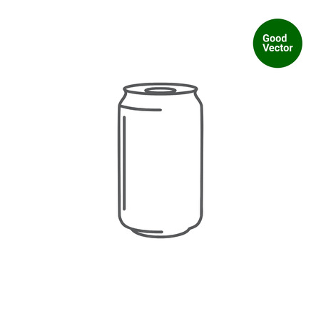 soda: Icon of aluminum can