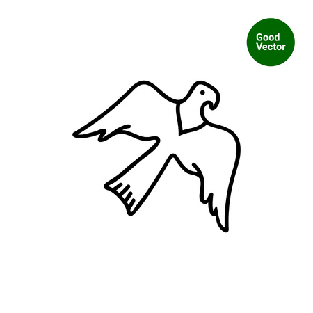 beine spreizen: Eagle-Symbol Illustration