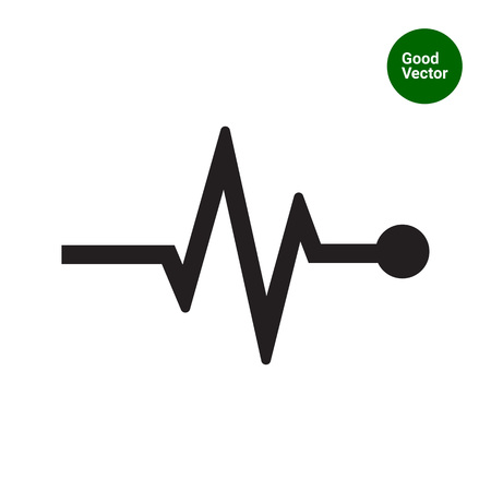 indicating: Vector icon of electrocardiogram graph indicating heart rhythm