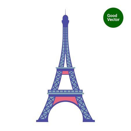 tour: Eiffel tower icon Illustration