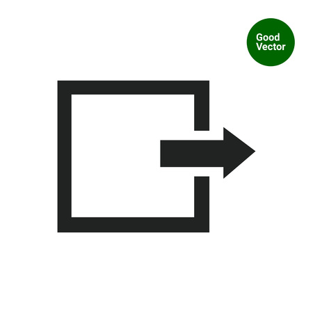 log on: Icon of exit or log out sign