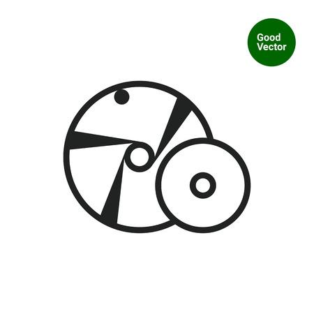 Schleifscheiben-Symbol Vektorgrafik