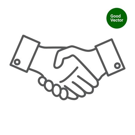 Icon of mans handshake sign Illustration