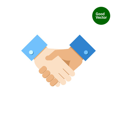 colleagues: Icon of handshake sign Illustration