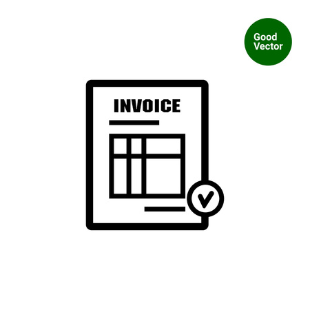 Icon of invoice document Ilustracja