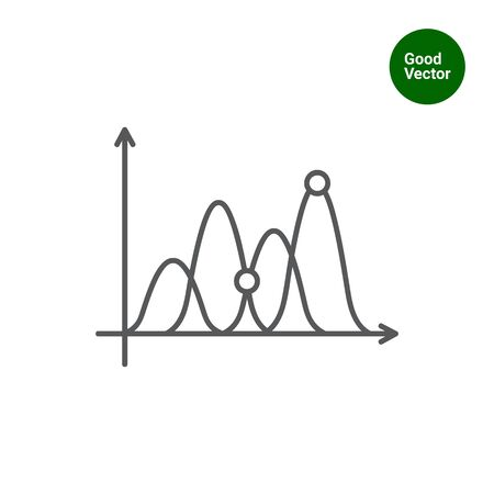 uptrend: Icon of line graph