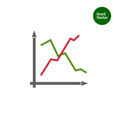 uptrend: Icon of line histogram Illustration