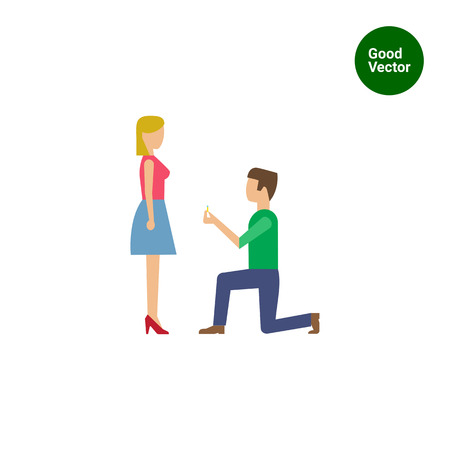 t shirt blouse: Icon of man standing on his knee in front of woman and giving ring