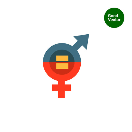 Vector icon of male and female equality concept