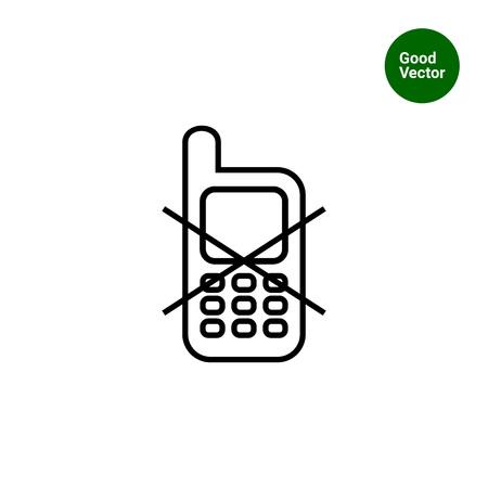 Icona di segno uso del telefono cellulare vietato