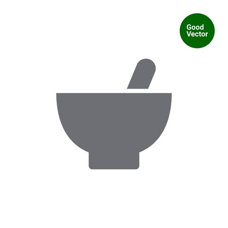 mortar: Icon of mortar and pestle Illustration