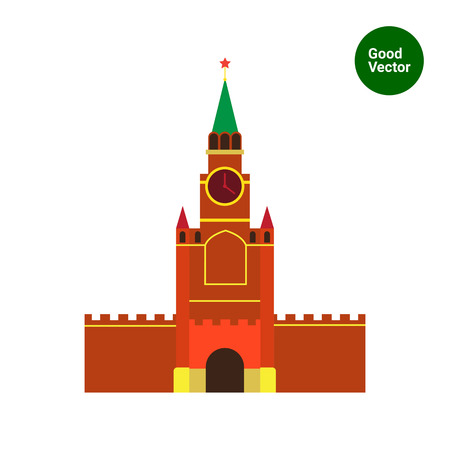 Multicolored vector icon of Moscow Kremlin building