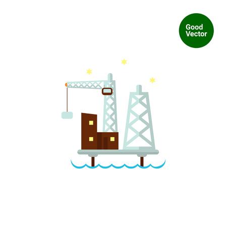 oil platform: Oil platform icon Illustration